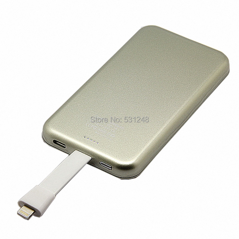 5 pcs/lot Wholesale Portable Backup Battery 6000 mAh Power Bank with Vacuum Base for All Micro-USB Devices - Silver(China (Mainland))