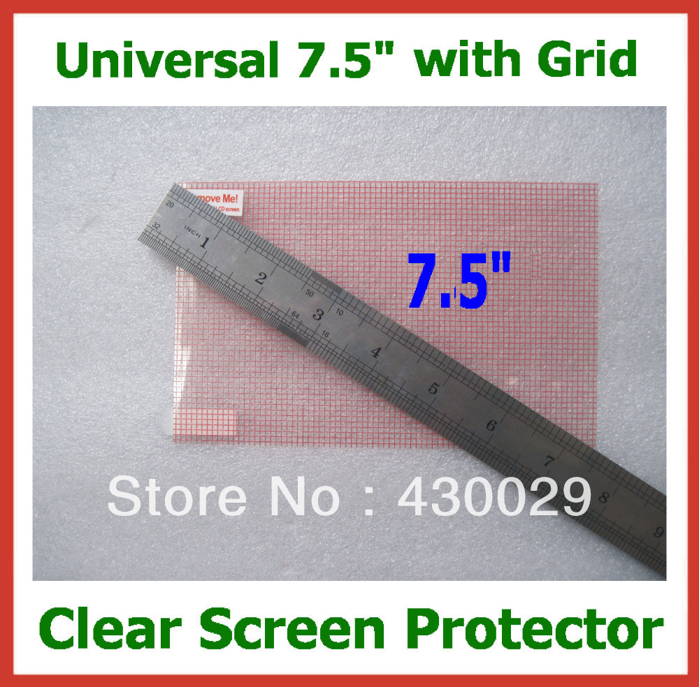 50pcs Universal LCD Screen Protector 7.5 inch with Grid Guard Film for Mobile Phone GPS MP4 MP5 Tablet PC Camera Size 160x100mm(China (Mainland))
