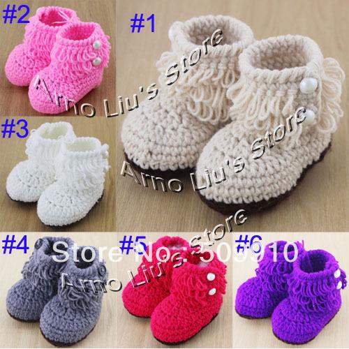 Compra bebé botas de crochet patrón online al por mayor de China ...