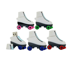 Gifts flash drive pendrive usb flash Roller skates usb stick Usb2.0 usb flash drive 64gb free shipping flash card 8g16g32g64g