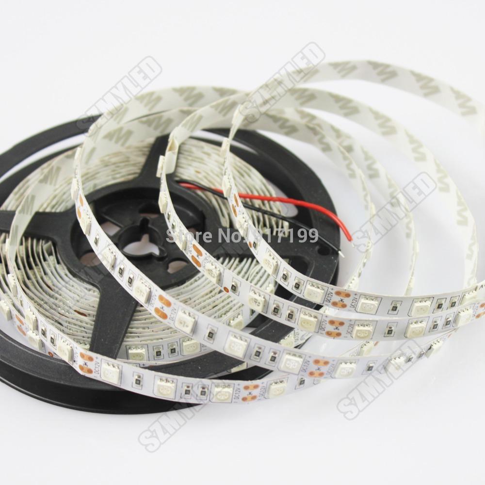 GoesWell LED Strip 5050 5M 12V Flexible LED Light Ribbon 60 leds/m RGB Warm White Cool White Blue Green Red Yellow Free Shipping(China (Mainland))