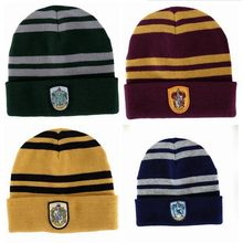 Harry Potter Gryffindor Slytherin Ravenclaw Hufflepuff Cosplay Beanie Warm Hat Party Supplies(China (Mainland))