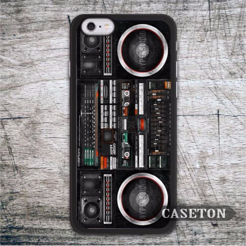 Vintage Boombox Music Blaster Case For iPhone 7 6 6s Plus 5 5s SE 5c and For iPod 5 High Quality Retro Stylish Phone Cover