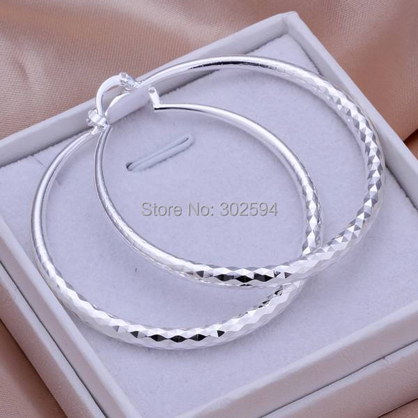 Гаджет  E291 wholesale circle women lady girl 925 Sterling silver cute pretty earrings high quality fashion classic jewelry antiallergic None Ювелирные изделия и часы