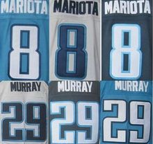 Mens' 8 Marcus Mariota shirts jersey 29 DeMarco Murray navy blue light blue white elite jersey,(China (Mainland))