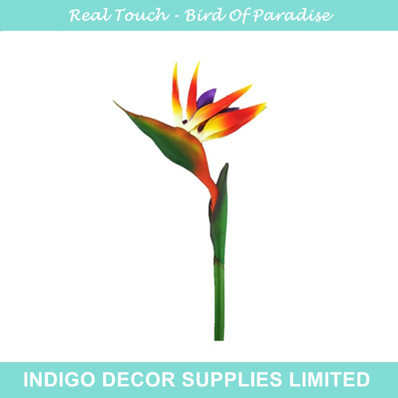 Bulk Order - Bird Of Paradise Plastic Real Touch Flower Home Flower Fake Flower Wedding Flower Hotel Party Event(China (Mainland))