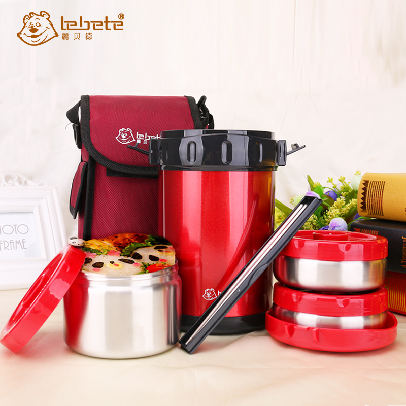 lebete 1 8l stainless steel hot food thermos bento lunch containers insulated thermal lunch box. Black Bedroom Furniture Sets. Home Design Ideas