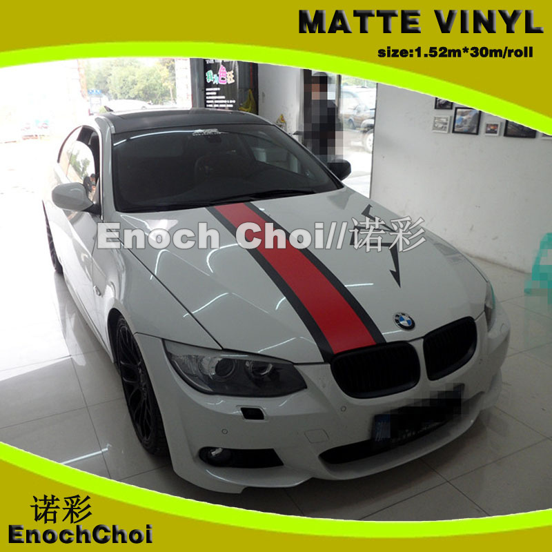 1.52m*30m/lot Matte white vinyl wrap car color changing film matte color sticker thickness: 0.15mm for white board sticker(China (Mainland))