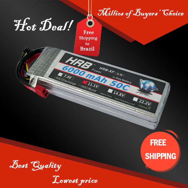 HRB Lipo Battery 11.1V 6000mah 50C AKKU Batteria For Helicopters RC Models Li-polymer Battery