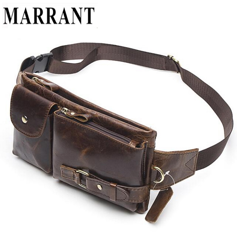 MARRANT Genuine Leather Waist Packs Fanny Pack Belt Bag Phone Pouch Bags Travel Waist Pack Male Small Waist Bag Leather Pouch(China (Mainland))