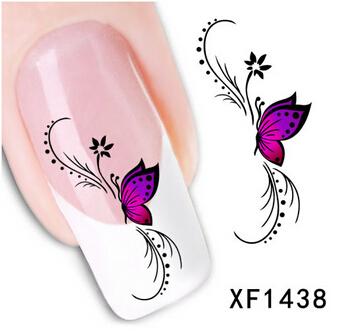 Наклейки для ногтей No 1 DIY 3D XF1438