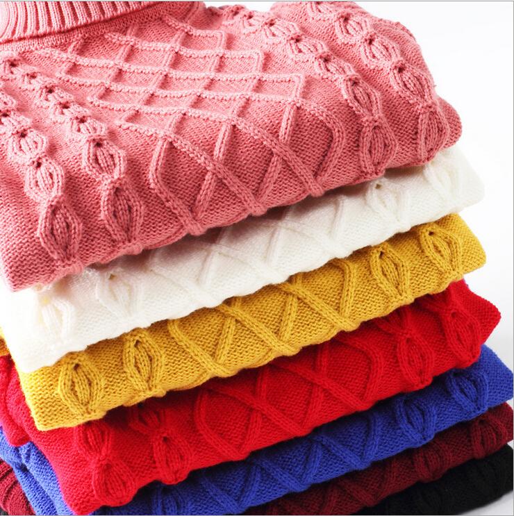 New Unisex Winter Autumn Infant Baby Sweater Boy Girl Child Sweater Baby Turtleneck Sweater Children Outerwear
