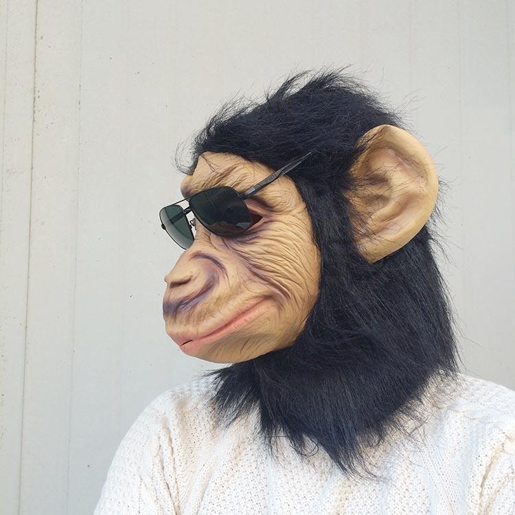 King Kong gorilla Mask Head Halloween / Christmas Costume Theater Prop Latex Monkey King scary Mask masquerade clown masks(China (Mainland))