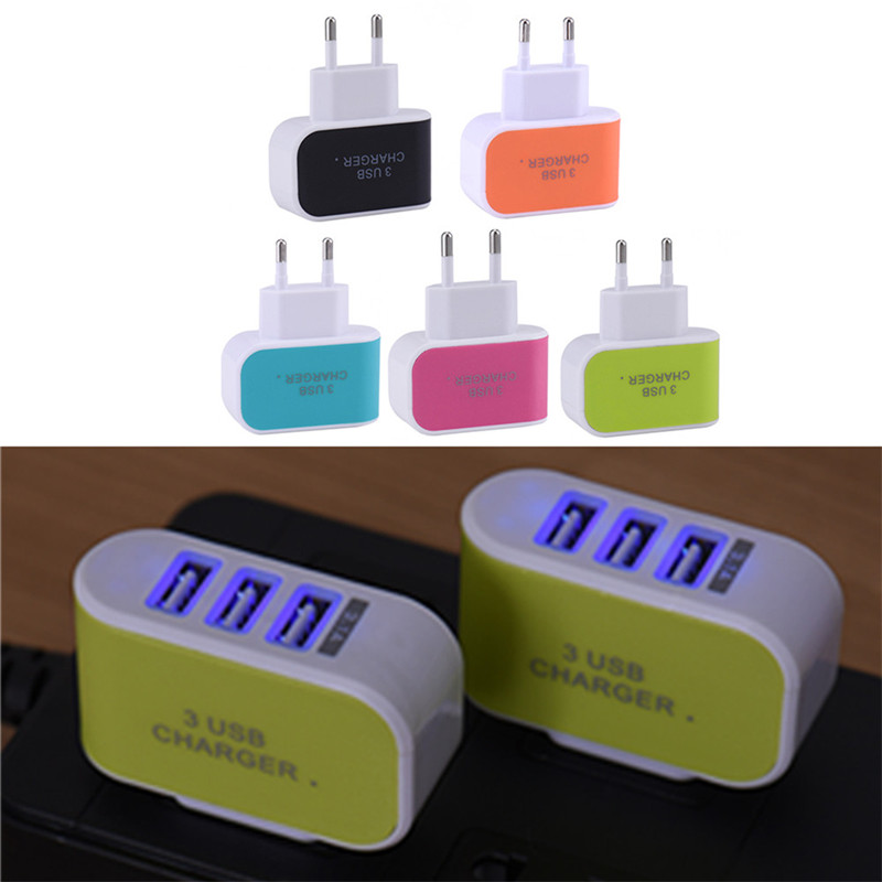 Hot selling 3.1A Triple 3 USB Port Wall Home Travel AC Charger Adapter High Quality For iPhone Huawei Meizu OPPO Xiaomi Samsung(China (Mainland))