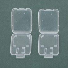 Practical 10PCS Transparent Standard SD SDHC Memory Card Case Holder Box Storage New Free Shipping(China (Mainland))