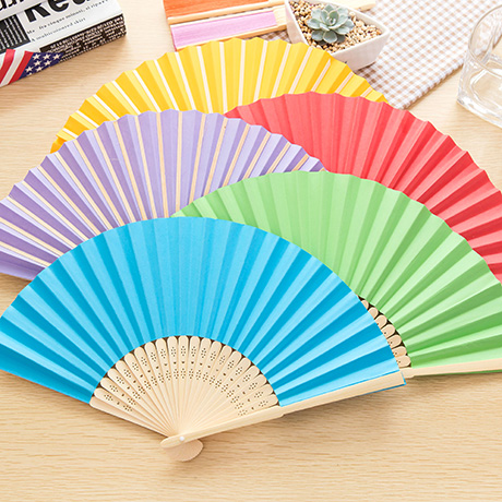 Colorful Chinese Folding Hand Fan Bamboo Handmade Chinese Fans for Woman Carved Japanese Paper Hand Fans Bamboo Ventilador Papel(China (Mainland))