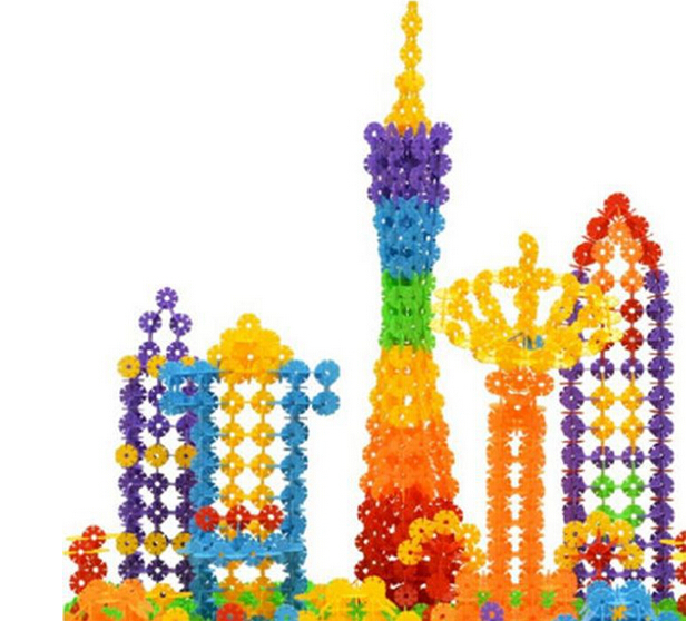 150cs Snowflake Building Blocks Toy Bricks DIY Snow Assembling Classic Toys Early Learning Toys(China (Mainland))