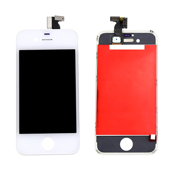 White Color For Iphone 4 4G LCD Display Touch Screen Digitizer with Bezel Frame Full Assembly Free Shipping+Tracking No.