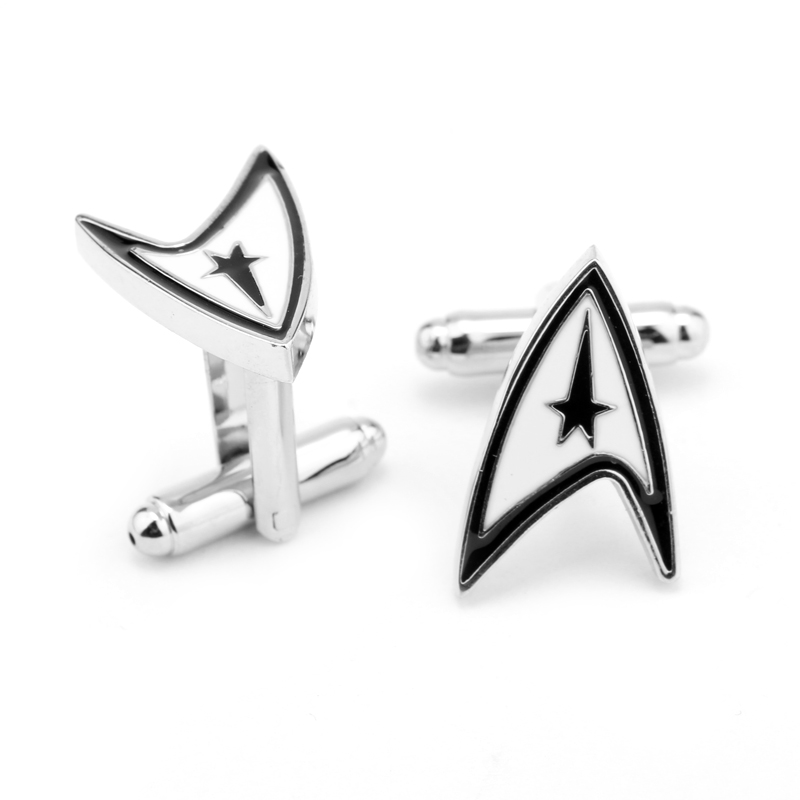 Jewellery star trek ensign Badge wars cufflinks male French shirt cuff links for men's Jewelry Gift free shipping(China (Mainland))