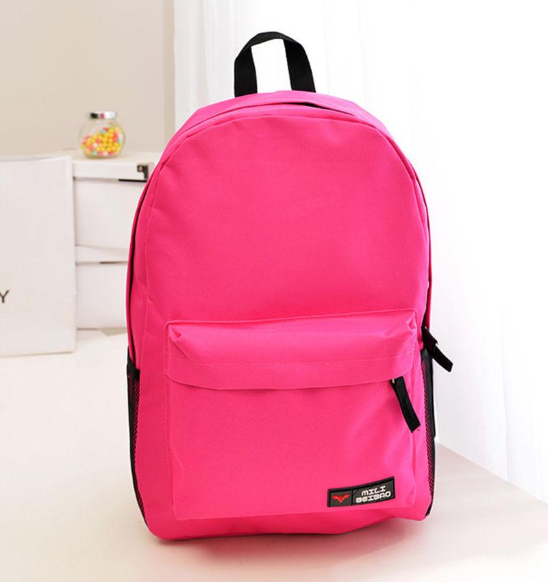Promotion Women&amp;Men Backpack Solid Zipper Softback  Backpack  Girl School Fashion Shoulder Bag Travel bags<br><br>Aliexpress