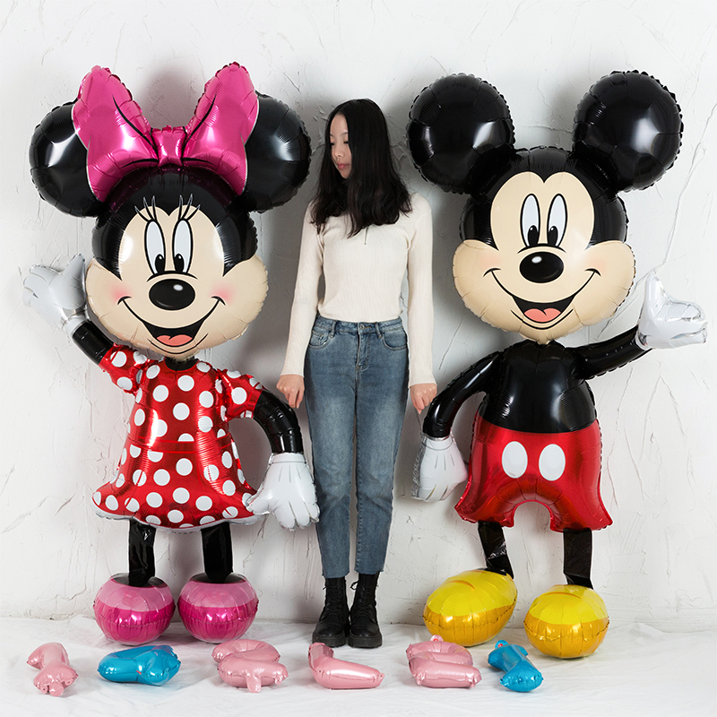 Birthday Party Balloons LOVSONG 2 PCS Large Size Mickey Mouse Character Foil Balloon Minnie Mouse Balloon Adult /& Kids Party Theme Decorations