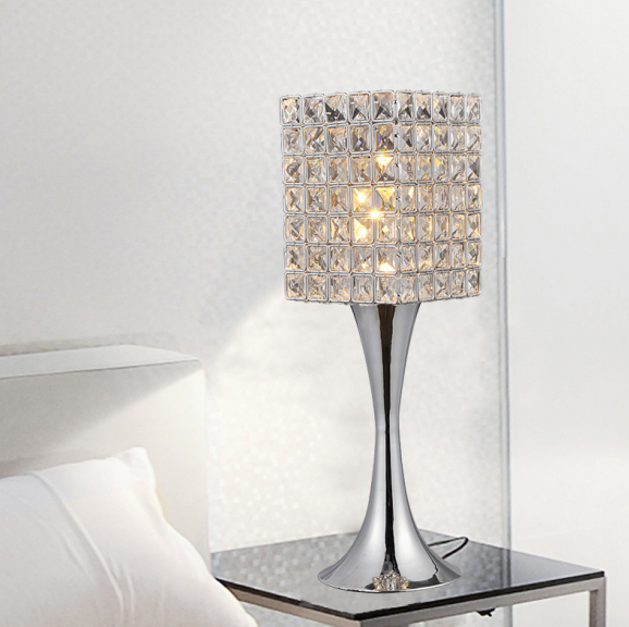 Foyer Table Lamps : Crystal table lamp suppore led e modern sconce