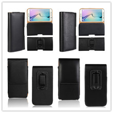 New Smooth pattern/Lichee Pattern PU Leather phone Belt Clip For HomTom HT6 CellPhone Accessories Pouch Bags Cases