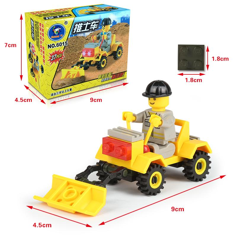 DIY Mini Constructing Blocks 6011 Navy Collection Missile Bulldozer Kits Child Youngsters Children Mental Improvement Toy