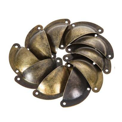 Free Shipping 10 PCS Vintage Cabinet Knobs and Handles Cupboard Door Cabinet Drawer Furniture Antique Shell Handle MTY3(China (Mainland))