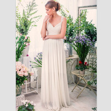 Buy 2017 Elegant White Lace Boho Wedding Dresses Sexy Backless Beach Bridal Gown V Neck Floor Length Wedding Gowns Vestido Casamento for $154.03 in AliExpress store