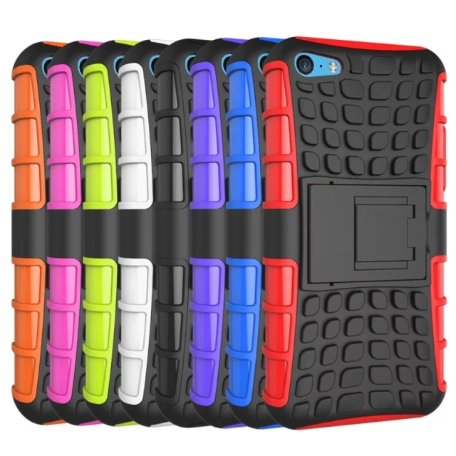 For iPhone 5c Kickstand Case Heavy Duty Armor Shockproof Hybird Hard Soft Silicon Rugged Rubber Cover
