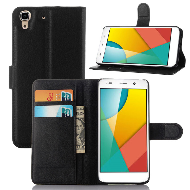 High Quality Luxury Leather Flip Case for Huawei Y6 / Honor 4A Smartphone Wallet Stand Cover With Card Holder 9 Colors Available(China (Mainland))
