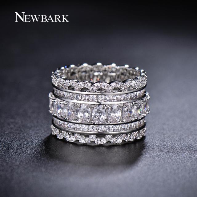bark роскошные широкий круг женщины кольца с овальным ааа цирконий и мода маленький ...