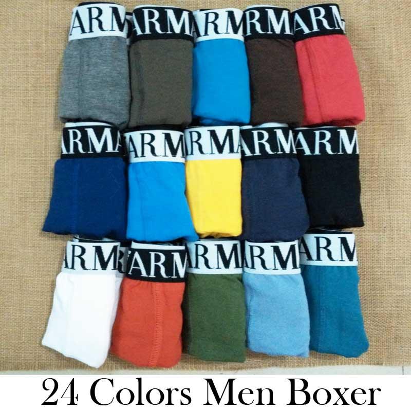 1pcs Wholesale underwear men 24 colors cotton men boxers sexy men underwear Famous brand cuecas with free shipping M L XL XXL(China (Mainland))