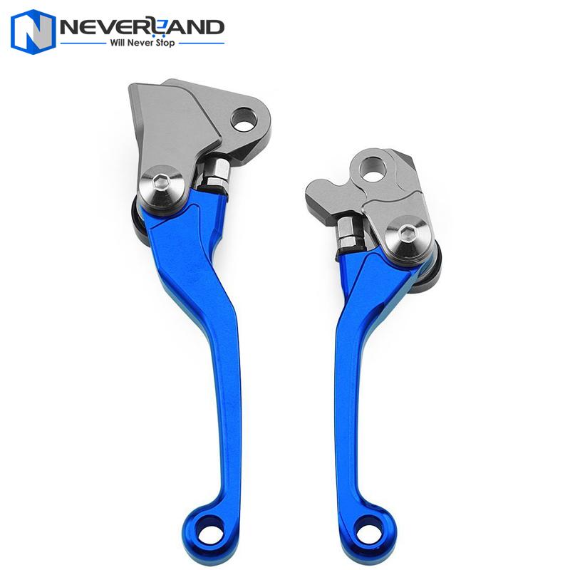 Blue CNC Pivot Brake Clutch Levers for Yamaha YZ 125 250 250F 426F 450F Kawasaki KX 125 250 250F 450F Suzuki RMZ250(China (Mainland))
