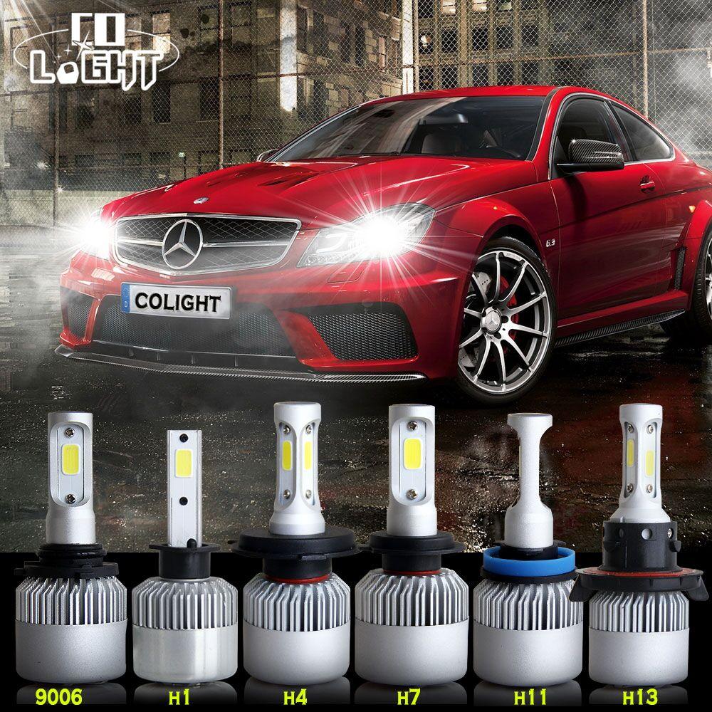 H4 LED Headlight Kit Hi Lo Beam Car Head Lamp COB Chips Fog Light Pure White 6500k Led Light Car All-in-one Auto Headlight Bulbs(China (Mainland))