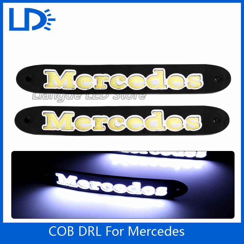 2Pcs/Set Car LED COB DRL Fog Lights Flexible Silicone IP65 Daytime Running Lights Waterproof Led Fog Lights for Mercedes Styling(China (Mainland))