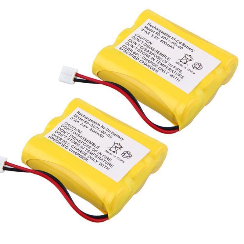 2pcs 3.6v 800mAh Phone Battery for Radio Shack 23-298 43-3505 ET-1110 ET-3506 New(China (Mainland))