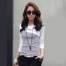 Buy T Shirt Women Clothes 2017 Striped Tshirt Long Sleeve Tops Womens Clothing T-Shirts Cotton Casual Tee Shirt Femme Poleras Mujer for $7.99 in AliExpress store