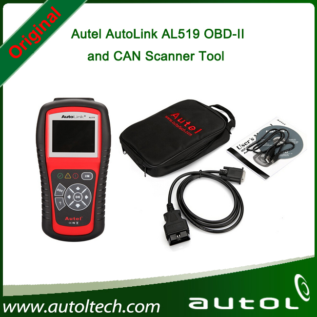 Fast Shipping Original Autel AutoLink AL519 OBD-II and CAN Scanner Tool English/Spanish/French with Top Quality(China (Mainland))