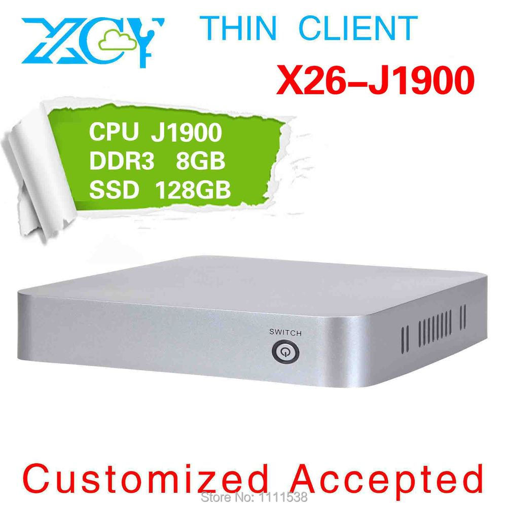 Wholesale!!! XCY X26-J1900 arm latest computer Linux Zero Client Intel low voltage memory home computer(China (Mainland))