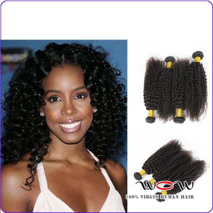 8A brazilian kinky curly 4pcs lot 100g mixed 10-30inche unprocessed real human hair weave afro kinky curly virgin hair extension(China (Mainland))