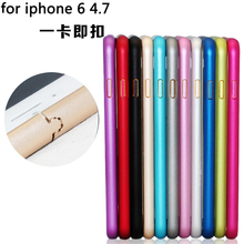 Protective Cases Ultra thin Metal Aluminum Frame Bumper Case For Apple iphone 6 4.7″ Slim Shockproof Cell Phone Mobile