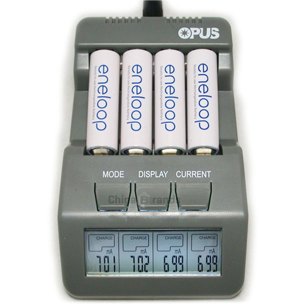 2016 Opus BT-C700 NiCd NiMh LCD Digital Intelligent AAA 16340 RCR123 14500 AA Battery Charger Updated From BM110 EU US Adapter(China (Mainland))