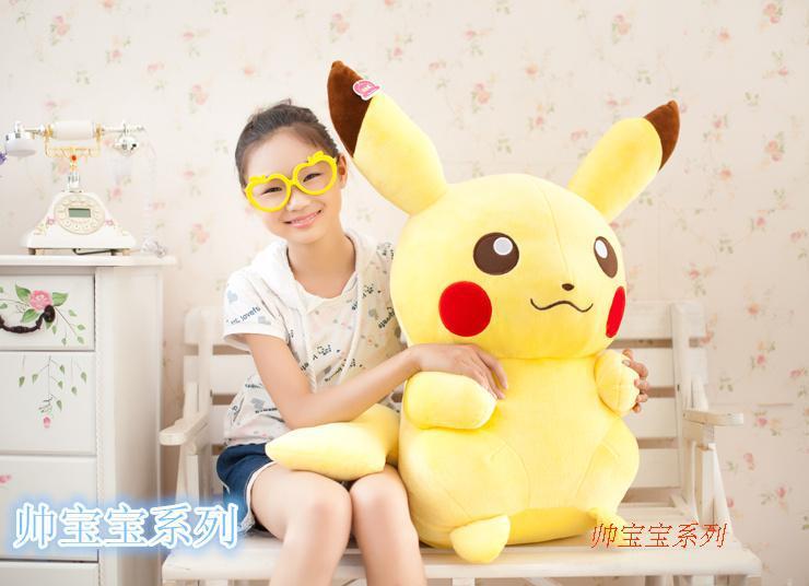 stuffed animal plush toy 65cm cute Pokemon Pikachu doll soft doll w1013(China (Mainland))