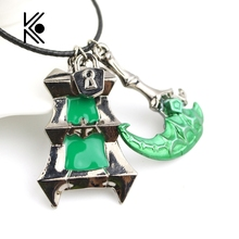 Buy game jewelry Thresh Weapon Necklace Zinc Alloy Bisoprolol League Chain Warden Legends Couples Necklace Pendant for $1.60 in AliExpress store