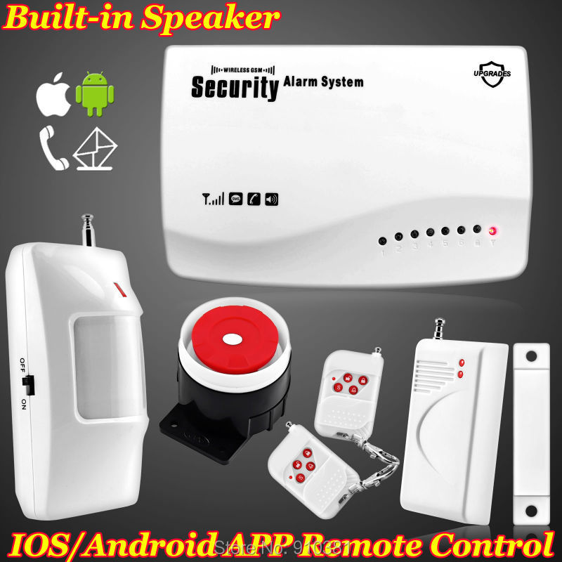 App Smart IOS/Android New Wireless GSM SIM card Home Security Burglar Voice Alarm System Auto Dialing Dialer SMS Call Protection(China (Mainland))