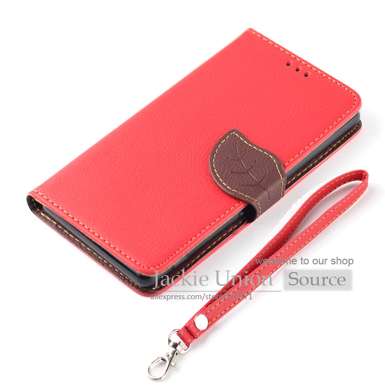 Fashion Leather Flip Leaf Style Stand Wallet Card Holder Case Cover for Nokia Lumia 520 525 Phone Bags Cases Hit Color Design