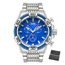 Temeite Relogio Masculino affaires luxe or Quartz analogique hommes montres Sport montre hommes étanche militaire homme montre-bracelet(China)