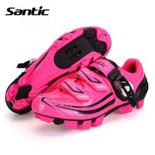 Santic Women Cycling Shoes Outdoor MTB Shoes Breathable Microfiber&Mesh Mountain Bike Shoes Zapatillas Ciclismo MTB Ultralight(China (Mainland))